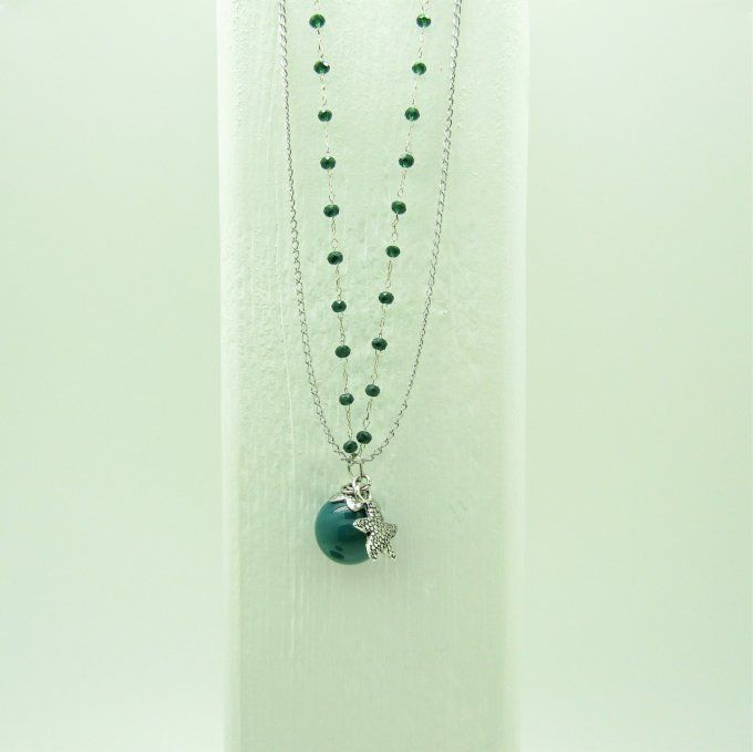COLLIER STERED JADE